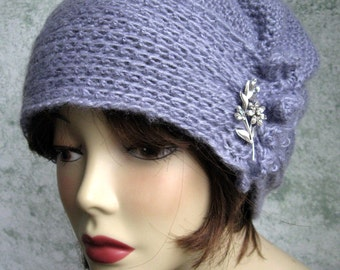 Crochet Pattern Womens Hat Brimmed With Side Gathers Instant Download  May Sell Finished
