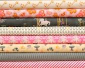 FANTASIA (Ambrosial colorway) fat quarter bundle--10 pieces---2-1/2 yards total---Sara Lawson for Art Gallery Fabrics