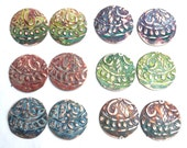 4 PC - Ma'at Goddess Patina and Texture Components - you choose the shape & patina! Free US Shipping