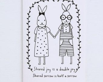 Colouring Card - Shared Joy