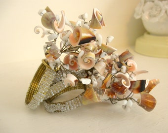 Napkin Rings Real Natural Shells Seashell for Seaside Decor Set of 4