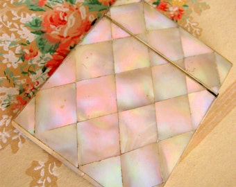 Antique Mother of Pearl Victorian Calling Card Case