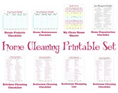 Cleaning Schedule Printable Set - Keep your House Clean