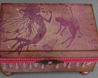 Whimsical Magical Fairy Large Keepsake Decorative Trinket Jewelry Box