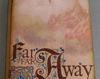 Far Away Book Treasure Trinket Keepsake Decorative Box