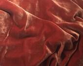 ROSE GOLD Silk Velvet Fabric fat 1/4