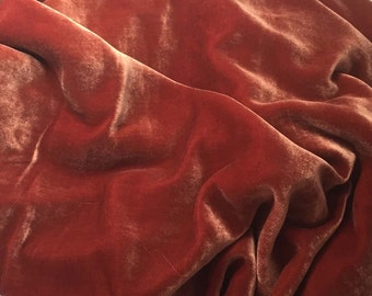 ROSE GOLD Silk Velvet Fabric fat 1/4