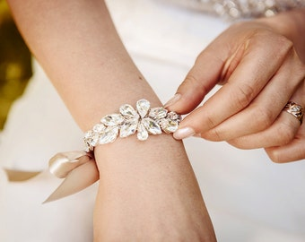Bridesmaid cuff bracelet made to order AVA bridesmaid gift flower girl