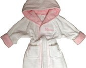 Handmade personalized baby/todder/ bathrobe