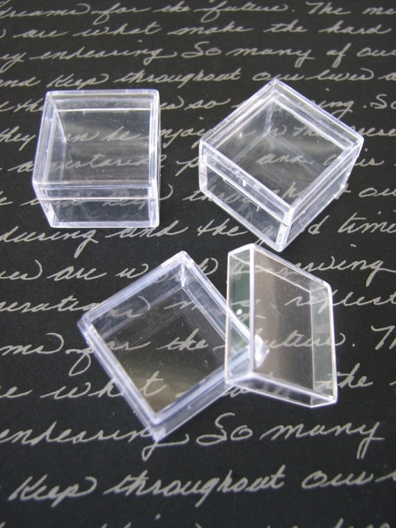 10 Pack Clear Acrylic 1 X 1 Inch Box Storage Square Container