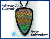 eBook - Polymer Clay Faux Embroidery Tutorial step-by-step (pdf)
