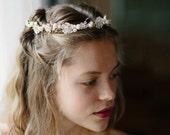 Wedding updo crown, Floral hair wreaths - Rockrose no. 2098