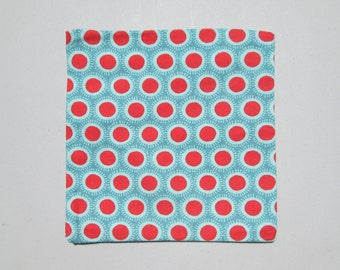 Reusable Snack Bag - Red and Blue