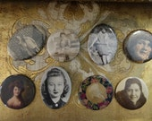 SALE Vintage Shabby Pocket Mourning Pictures Lot