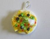 Loaded Nacho Pendant, Miniature food Jewelry, Polymer Clay Jewelry, Ready To Ship