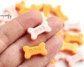 10pcs mini resin dog biscuits / miniature resin dog cookies / kawaii cabochons for diy jewelry and deco phones
