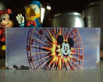 Mickey's Fun Wheel California Adventure Map Wallet