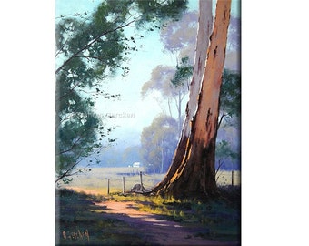 Printable paintings wall art prints from my Original Oil Painting Australian Gum tree