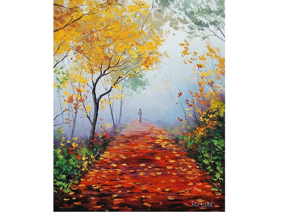 Oil Paintings of Fall Trees Realistic Oil Painting Fall
