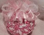 Pink Glitter Baby Girl Handmade Quilted Star Christmas Ornament, Gift for Baby Girl, Stocking Stuffer, Hostess Gift, Secret Santa