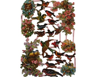 Germany Lithographed Die Cut Victorian Bird Scraps  7212