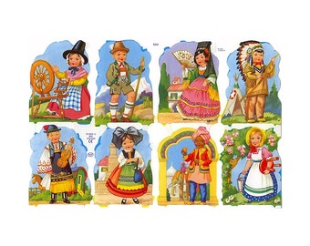 England Paper Lithograph Die Cut Scraps Children Of The World  1311