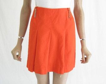Vintage 60s  Mod Cotton Mini Skirtskirt