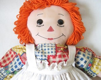 Vintage 60's Large Raggedy Ann Doll