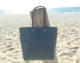 Beach Bag, Linen Tote Bag, Weekend Bag, Day Bag, Handbag, Casual Tote Bag, Women, Resort Tote, Vacation Bag, Tote, Beach, Sea Palm