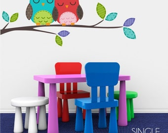 Love Owls Nursery Vinyl Wall Decals - Sticker Art