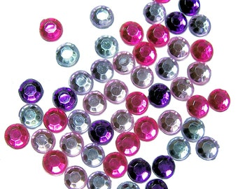 Acrylic rhinestones pink and purple color mix 4mm 300 pieces SS16