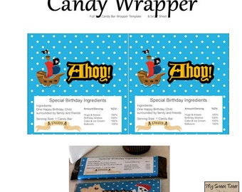 Pirate Candy Wrapper 1