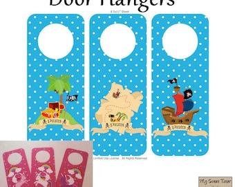 Pirate Door Hangers