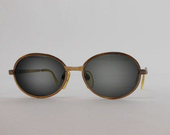 sunglasses / Vintage RODENSTOCK 12k GERMAN Oval Frame Sunglasses Glasses