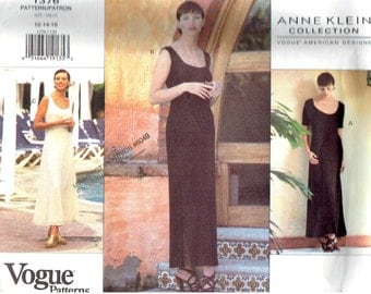 "Misses Dress Size 12-14-16 Vogue 1376 American Designer Anne Klein Collection ""Easy"" UNCUT Sewing Pattern"