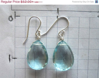 AMAZING Drop Earrings, Aquamarine earrings, aquamarine quartz earrings, Mermaid Earrings, Mermaid Blue Quartz earrings, Christmas Gift,