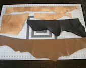 leather,leather scraps,leather ends,brown leather
