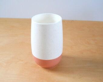 Vintage Rose Pink Vacron Cup • Bopp Decker Tumbler Glass • Mid Century Plastic Cup