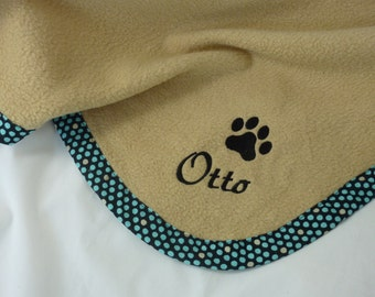 Pet  Blanket  Personalized  Dots