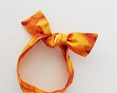 Oranges Head Scarf / Hair Accessory / Neck Scarf / Handbag Adornment / Orange Citrus Scarf / Rockabilly Scarf / Gift Under 15