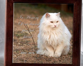 Custom ceramic tile framed or unframed  your choice of 4x4, 6x6, or 6x8 art text logo family pets bride memorial grandma baby personalized