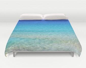 housse de couette marina menthe de linge de lit bateau. Black Bedroom Furniture Sets. Home Design Ideas