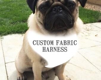Pug Dog harness - CUSTOM HARNESS, Soft Dog Harness