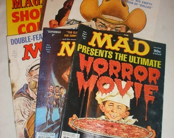 Vintage Mad Magazine From 1981 Issue's 6 Issue's