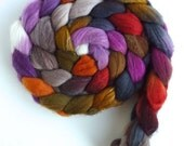 Merino/ Silk Roving (Top) - Handpainted Spinning or Felting Fiber, Queen of All Things