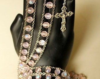 Frosted Pink Rosary