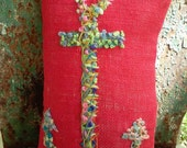 Anchor Hand Embroidered Pillow Large