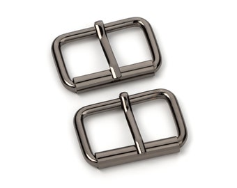 "10pcs - 1 1/4"" Roller Pin Belt Buckles - Black Nickel - Free Shipping (ROLLER BUCKLE RBK-119)"