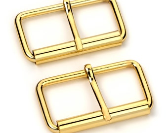 "10pcs - 2"" Roller Pin Belt Buckles - Gold - Free Shipping (ROLLER BUCKLE RBK-125)"