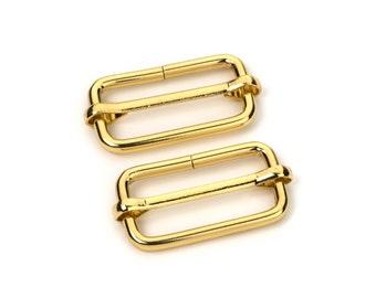 """30pcs - 1 1/4"""" Adjustable Slide Buckle - Gold - Free Shipping (SLIDE BUCKLE SBK-121)"""